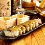 名物となった「漁師風鯖寿司」も是非お召し上がりください。