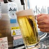 ビールはアサヒスーパードライをご提供♪