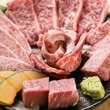 ゴージャスな赤身盛り♪肉のプロ厳選のおすすめばかりをチョイス