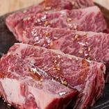 当店は主に雌牛の厳選肉を使っています