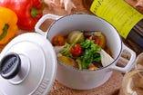 ◎具だくさんの温野菜 légumes cuits à la vapeur