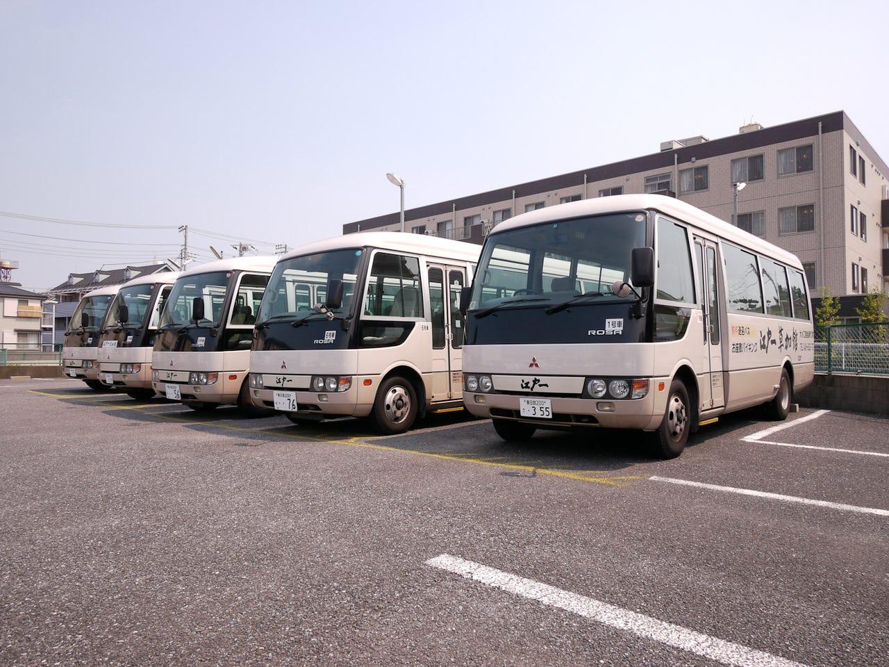 15名様より送迎バス手配致します!