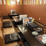小団体様向けのテーブル席です12名様迄座れるお座です。