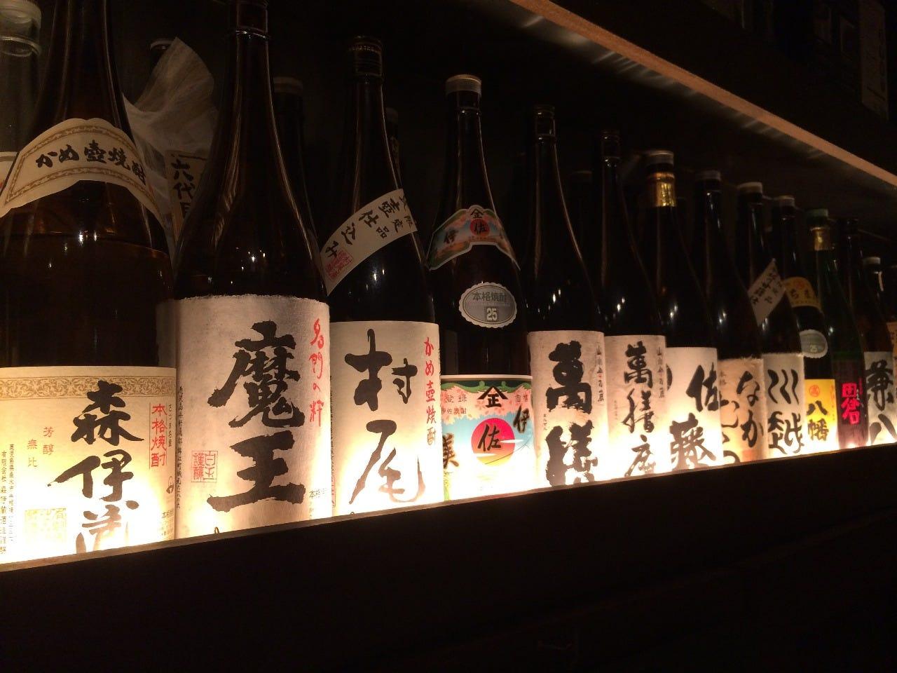 九州出身、店主こだわりの焼酎!