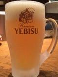 生ビールはいつもキンキンに冷えたヱビスを!