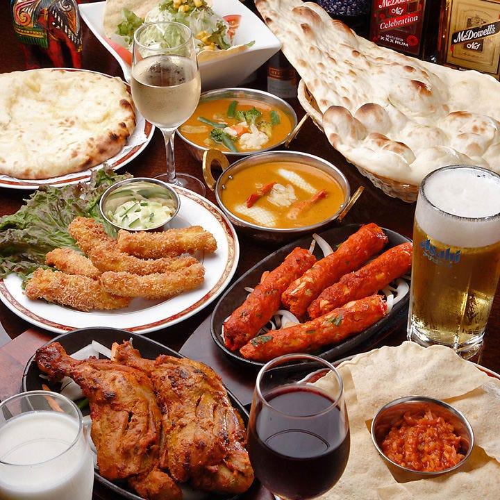 本格インド料理の食べ飲み放題コース