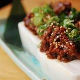 豚肉を使用した肉味噌は豆腐との相性バッチリです。