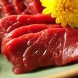 新鮮な鹿肉はお刺身で召し上がれます