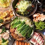 宴会にピッタリ◎自慢のもつ鍋などからお好きなものを選べる鍋付きコース