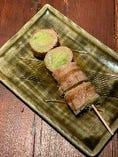 レタス豚巻串
