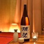 獺祭もOK!豊富な日本酒をご用意。