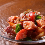 Sweet Tomato and Bacon with Mint
