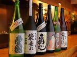 「天明 亀の尾」「飛露喜」など、会津が誇る日本酒が多い