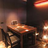 【テーブル個室】4名様×3部屋(扉を外して最大12名様まで可能)