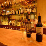 全70種以上のストックを誇るワインはお好みでセレクト!