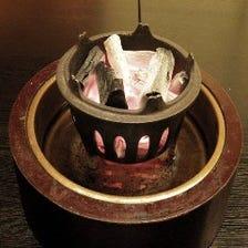 創業当時から使い続けている水火鉢