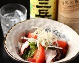 新鮮野菜と海鮮のコラボ