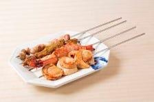 【串焼き】ラム肉・牛肉・鶏もも肉などご用意!