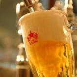【生ビール5種類】自慢の一度注ぎ、是非ご賞味下さいませ♪