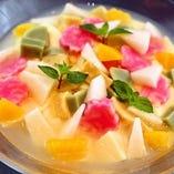 金沢梨の食感 杏仁豆腐