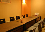 個室は最大27名 会食や接待など、幅広くご利用いただけます