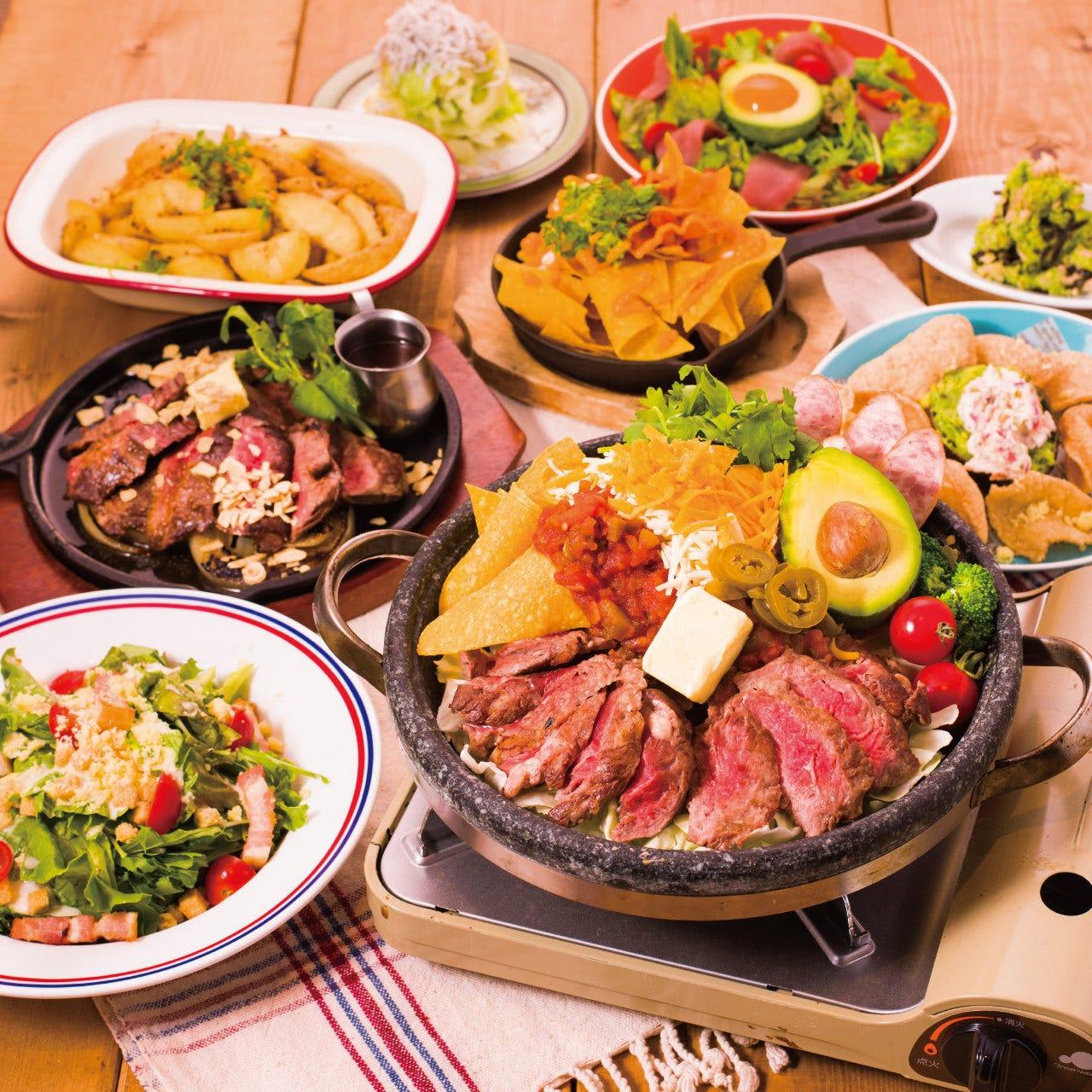 【贅沢忘年会】選べるメイン×豪華Hawaiian料理など全12品《3Hプレミアム飲放付》6980円→5980円(税込)