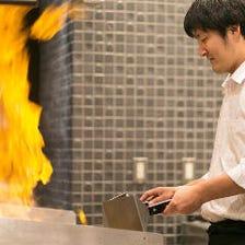 五感を刺激するアツアツの鉄板焼き