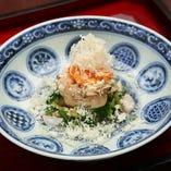 先附/蛤出汁の山菜浸し(コースの一例)