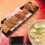 美味しい串カツ。