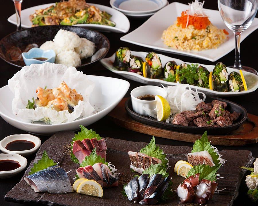 コース料理は4500円から〜!団体様歓迎!20名個室あり!