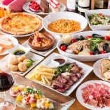 魚介の地中海マリネをはじめ、お肉または魚から選べるメイン料理など、全10品のコースに、最初から2.5時間プレミアム飲み放題をセットしたスペシャルコースです!職場宴会の他、接待やお祝いのお集まりなどに幅広くご利用ください。