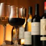 厳選ワインボトルを常時約35種!グラススパークリングもご用意