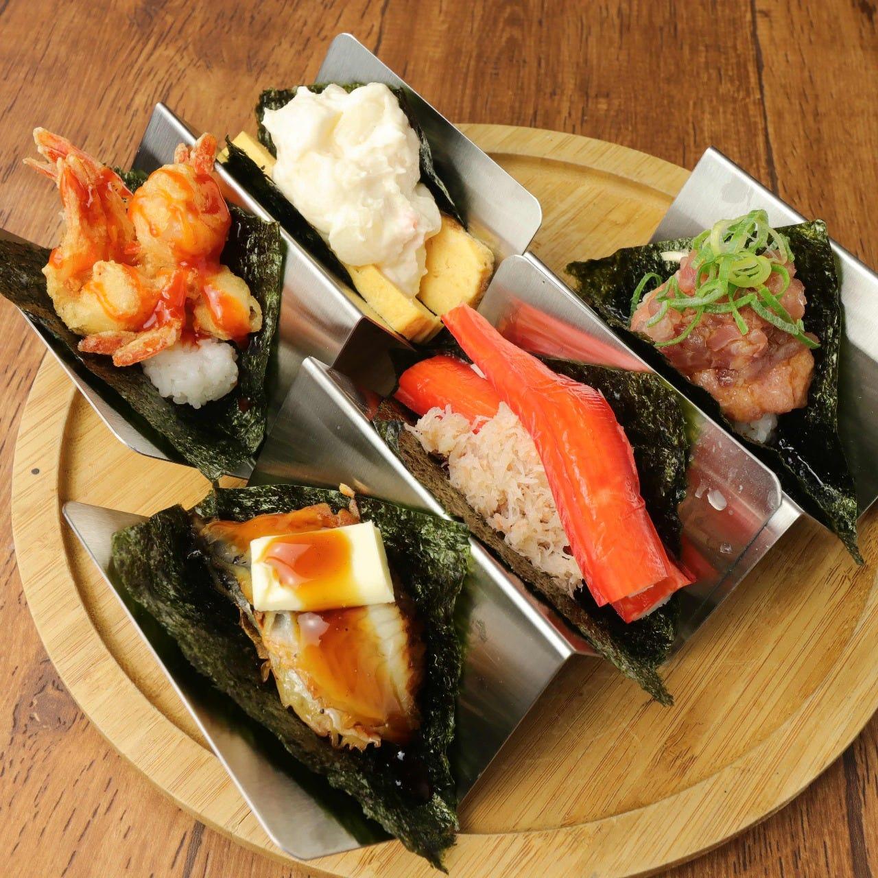 自慢の創作握り寿司を是非ご賞味ください!