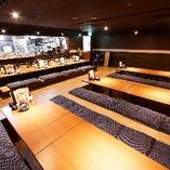 中規模の飲み会から大人数の宴会まで、人数やシーンに合わせてお席をご用意します