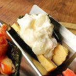 玉子とポテサラ子供寿司