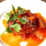 平牧三元豚のソテー ピリ辛トマトソース