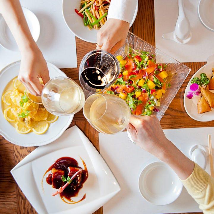 ワインと中華のマリアージュ♪ 色々食べるならコースがお得