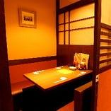 2~8名様用完全個室のテーブル席