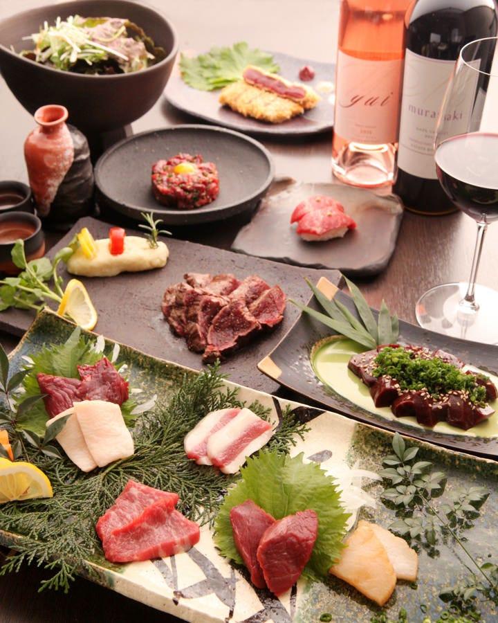 当店の馬肉はすべて純国産。地元福岡県産を使用。