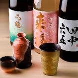 お料理との相性を考えて厳選した日本酒が勢揃い
