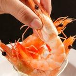 牡蠣以外にもシュリンプ料理も豊富にご用意しております。