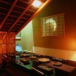 時間を忘れてしまいそうな、茶室風の完全個室。(6名様)
