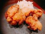 ポルチーニ茸風味の越の鶏唐揚げ