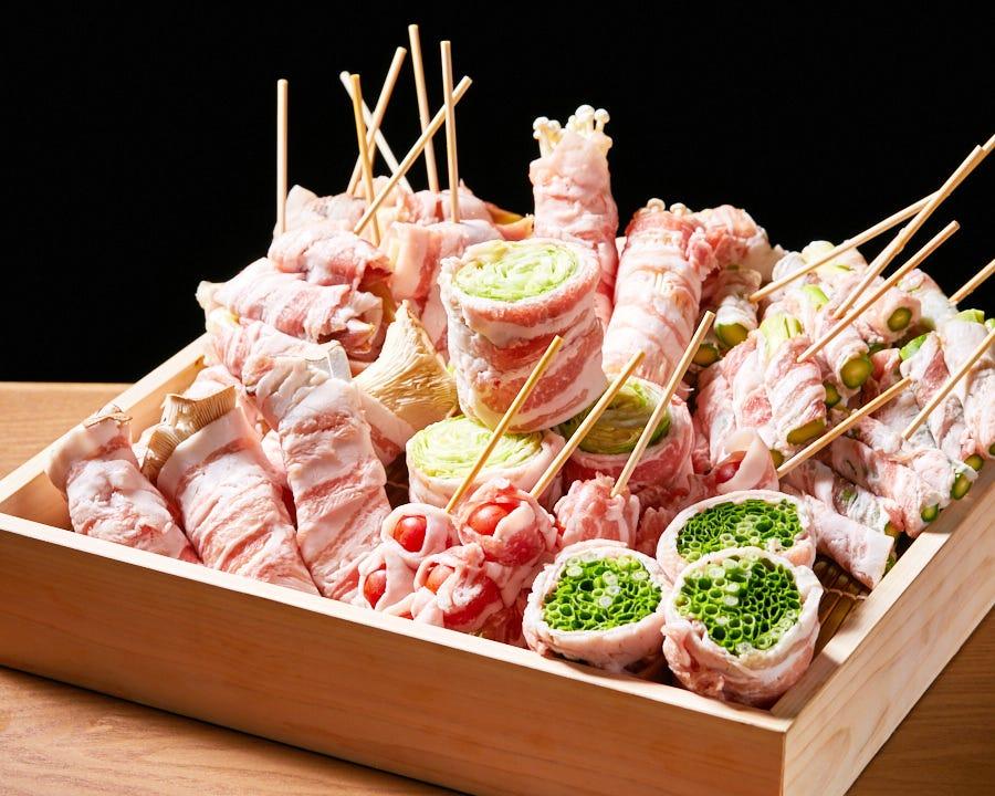 野菜肉巻串焼