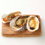 焼き牡蠣3種盛り