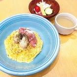 糸島雷山豚生ハムと牡蠣のスパゲッティカルボナーラ