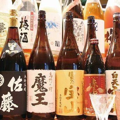 愛媛の地酒、各地の焼酎を楽しめる
