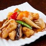 白身魚のオイスターソース炒め