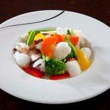 紋甲いかと野菜の塩炒め
