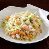 三種海鮮レタス炒飯